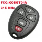 Remote Transmitter for Buick LaCrosse 5 Button (315MHz,Trunk,KOBGT04A)