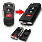 Flip Key Shell Modified for Nissan Tidda 2+1 Button