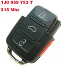 Remote Transmitter for Volkswagen 4 Button (315Mhz,1J0 959 753 T)