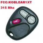 Remote Transmitter for Chevrolet Escalade (315MHz,KOBLEAR1XT,2+1 Button)