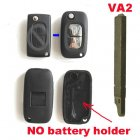 Blank Shell Modified for Peugeot,Citroen Flip Key 2 Button No Battery Holder (VA2,Renault Style)