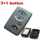Blank Shell for Toyota Avalon Silver Smart Key Card 3+1 Button