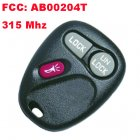 Remote Transmitter for Chevrolet Venture (315MHz,AB00204T,2+1 Button)