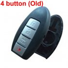 Blank Shell for Nissan,Infiniti,GTR Smart Card 4 Button (Old Models)