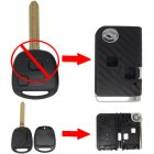 Flip Key Shell Modified for Toyota Prado 2 Button (with 3D Carbon Fiber Sticker)