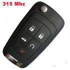Flip Remote Key for Buick Lacrosse (315Mhz,ID46,4+1 Button)