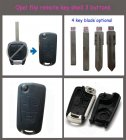 Flip Key Shell Modified for Opel Bosch Type Remote Key 3 Button Short Housing