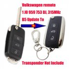 New Style Car Keys Remote FCC 1J0 959 753 DJ with Volkswagen Phaeton Flip Key Shape