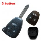 Blank Shell for Chrysler,Dodge,Jeep Remote Key 3 Button (Trunk,Big)