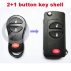 Flip Key Shell Modified for Chrysler,Dodge,Jeep Remote Transmitter 2+1 Button