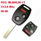 Remote Key for Honda 2+1 Button (313.8Mhz,ID46,FCC:MLBHLIK-1T)
