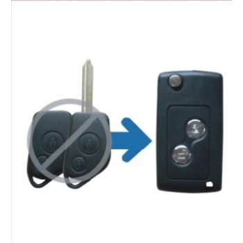2 Button SX9 Refitting Folding Remote Key Shell for CITROEN C5 Elysee PICASSO