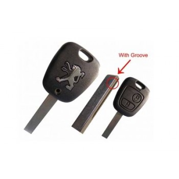 Auto remote key set for Peugeot 307 (old models,2 button,433MHz,HU83)
