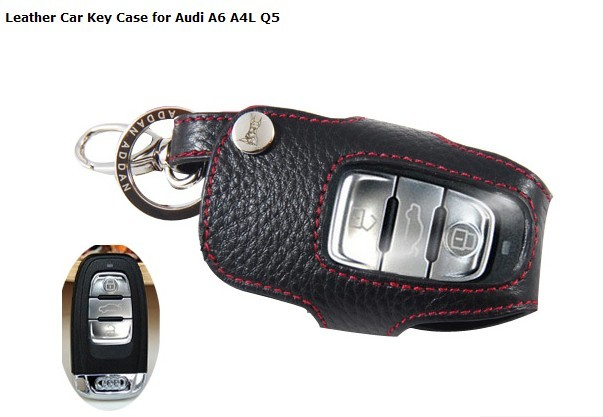 N Leather Key Case for Audi A6 A4L Q5 Remote Keys